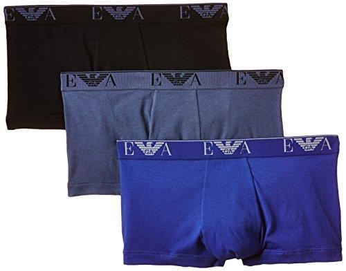 Emporio Armani Herren 111357 Boxershorts, Mehrfarbig (Noir/bleu/gris Foncé), X-Large (Herstellergröße: XL) - Junior Armani