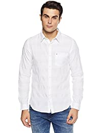 Lee Cooper Men's Solid Regular Fit Casual Shirt