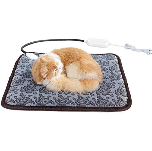 Unbne Haustier-Heizung, Pad Pet Blanket Wärmer für Hund Katze Heizmatte Indoor Elektro-wasserdichter Hunde erhitzter Auflage mit Chew Resistant Cord, Haustier Decke Warmer -