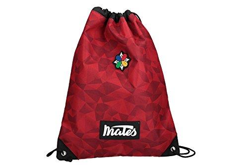 MATES 18 Zaino ragazzo ragazza rosso borsa sacca scuola tempo libero VZ828