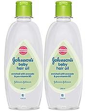 Johnson's Baby Hair Oil 200ml (Pack of 2)