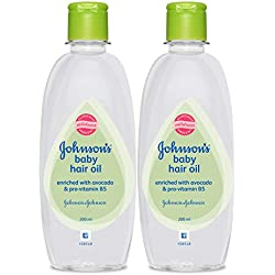 Johnson's Baby Hair Oil (Pack of 2, 200ml)