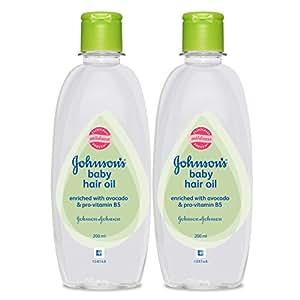 Johnson's Baby Hair Oil (Pack of 2, 200ml)