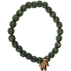 Good Wood NYC Men Accessories / Bracelet Mini Leaf green Standard size