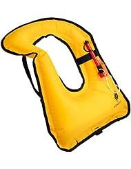 kilokelvin Chalecos Salvavidas / Chaleco Salvavidas Adulto / Chaleco Salvavidas niños, Chaqueta Inflable Flotabilidad Compensador para Snorkel Surf Natación Canotaje Kayaking Pesca Rafting y Flotando ( Amarillo )