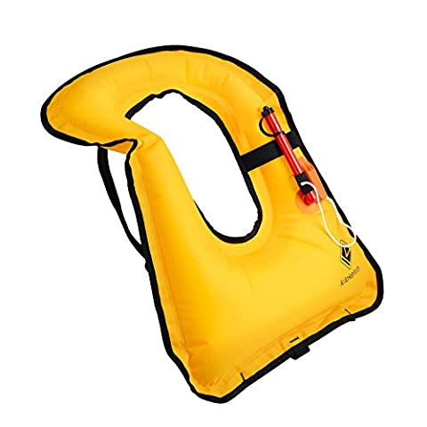Snorkel Adult Vest Swim Vest Life Jacket Inflatable Buoyancy Compensator for Adults Kids Snorkeling Surfing Swimming Boating Kayaking Fishing Rafting and Floating by Kilokelvin
