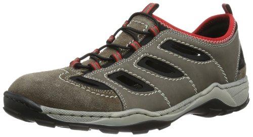 Rieker 08065 Sneakers-Men, Herren Sneakers, Braun (santos/polvere/schwarz/rosso/27), 44 EU