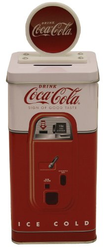 The Tin Box Company Coca Cola Tall Beverage Machine Bank by The Tin Box Company Tall Beverage