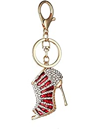 aadc733ab1 Vikenner high-heeled shoe Keychain creativo cristallo STRASS portachiavi  auto chiave ciondolo per San Valentino