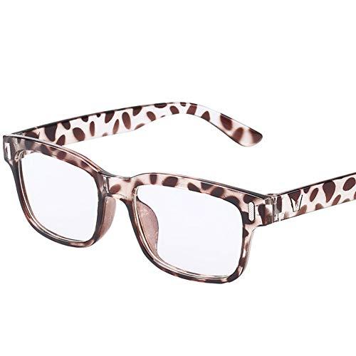 ZYCX123 Leopard-Druck-Glas-Rahmen Stilvolle Jungen-Mädchen-Kind-Kind-Partei-Zubehör Glas-Rahmen Keine Objektive New Plastic