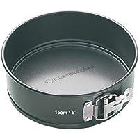 Kitchen Craft Master Class - Molde Redondo Desmontable, Acero, Negro, diametro de 15 cm