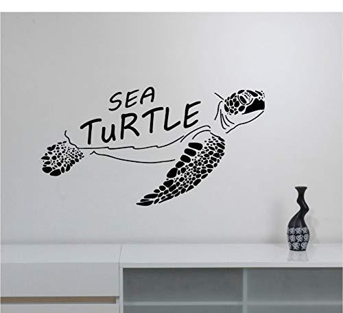 (Ocean Life Wandtattoo Meeresschildkröte Wand Vinyl Aufkleber Marine Wildlife Wallpaper Home Wohnzimmer Decor Turtle Vinyl Wandbild 57x30 cm)