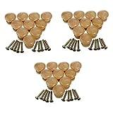 30 piezas Pomo Madera Tiradores de Muebles madera de manijas Perillas de madera redondas Perillas de madera...