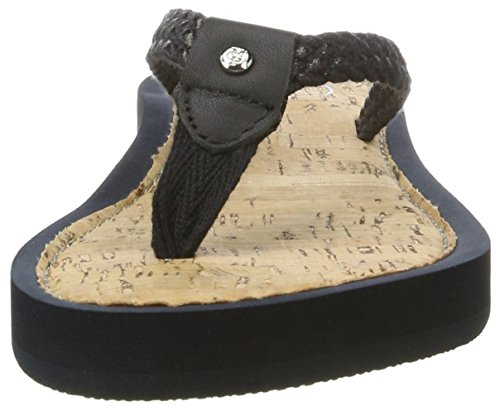 Marc O'Polo 70314031002612 Beach Sandal, Sandales  Bout ouvert femme Schwarz (Black)