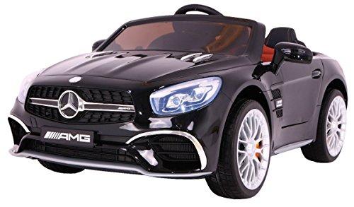 BSD Elektro Kinderauto Elektrisch Ride On Kinderfahrzeug Elektroauto Fernbedienung - Mercedes AMG SL65 - Schwarz LCD