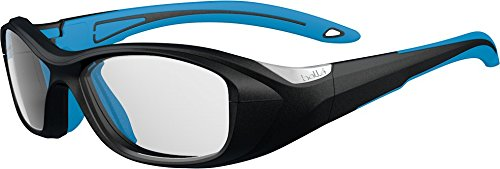bollé Kinder Swag Sonnenbrille, Black/Electric Blue, Small