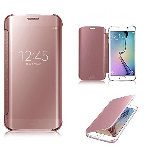 Preisvergleich Produktbild Connect Zone® Luxus Spiegel Smart Klare Sicht Flip Harte Rückschale Für Samsung Galaxy A5 (2017) A520F - Roségold, Samsung S7 Edge