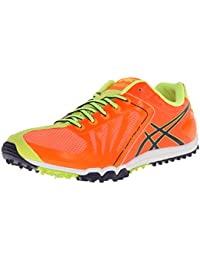 ASICS Zapato Cross Freak para hombre, Llama anaranjada / Tinta / Amarillo intermitente, 12 M EE. UU.