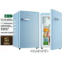 Fantastisch Retro Kühlschrank Mit Gefrierfach Hellblau KS 95RT LB A+ 90 Liter Nostalgie  Design