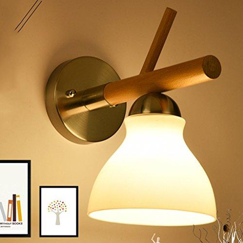 Met Love Moderne Minimaliste Chambre Chevet Lampe Chambre À Coucher Allée Escalier En Bois Solide Lampe Creative Led Mur Lampe