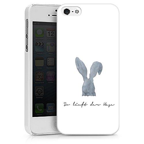 artboxONE Handyhülle iPhone 6/6S So läuft der Hase - Typografie - Smartphone Case mit Kunstdruck hochwertiges Handycover kreatives Design Cover aus hartem Kunststoff von Liliana Michalska Hard Case weiß