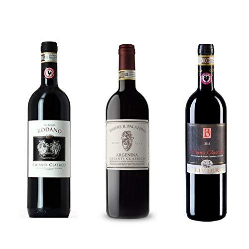 3 bottiglie Chianti Classico - Azienda Oliviera, Fattoria Rodano, Podere il Palazzino Gaiole