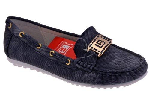 Laura Biagiotti Car Shoe Mocassins Neuf Chaussur. Bleu