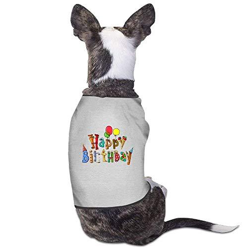 Kostüm Happy Lustige - GSEGSEG Happy Birthday lustiges Muster niedliches Hunde-Kostüm für Hunde und Katzen, aus Polyester