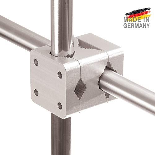 SONNENSCHIRM-HALTER BALKON-GELÄNDER Sunnystar – Made in Germany   Sonnenschirmständer Aluminium...