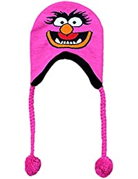 The Muppet's Womens Pink Knit Animal Peruvian Style Trapper Hat Fleece Lined