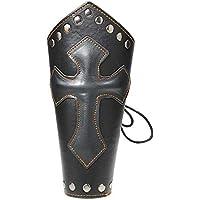 CHSEEO Protector Guardia de Brazo para Tiradores Pulsera Guardabrazos Protección Brazalete de Cuero Manguito de Brazo Accesorio Cosplay Tradicional para Caza Tiro con Arco #2