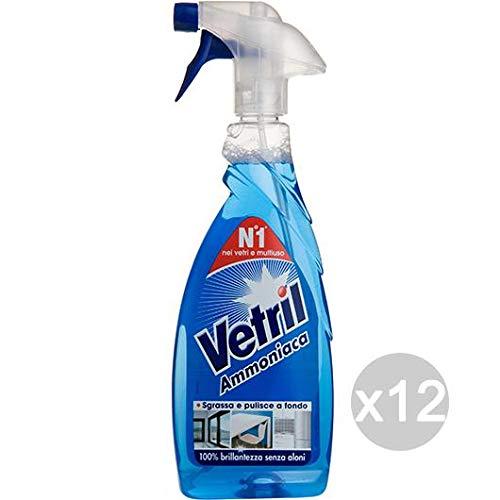 Vetril Set 12 Multi Uso Ammoniaca Ml 650 Spray Complet Detersivi E Pulizia della Casa