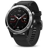 Garmin - Fēnix 5 Silver - Montre GPS Multisports Outdoor  (Ecran : 1,2 pouces) - Couleur Silver Bracelet Noir