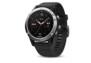 Garmin Fenix 5 Multisport GPS Watch with Outdoor Navigation and Wrist-Based Heart Rate, Silver