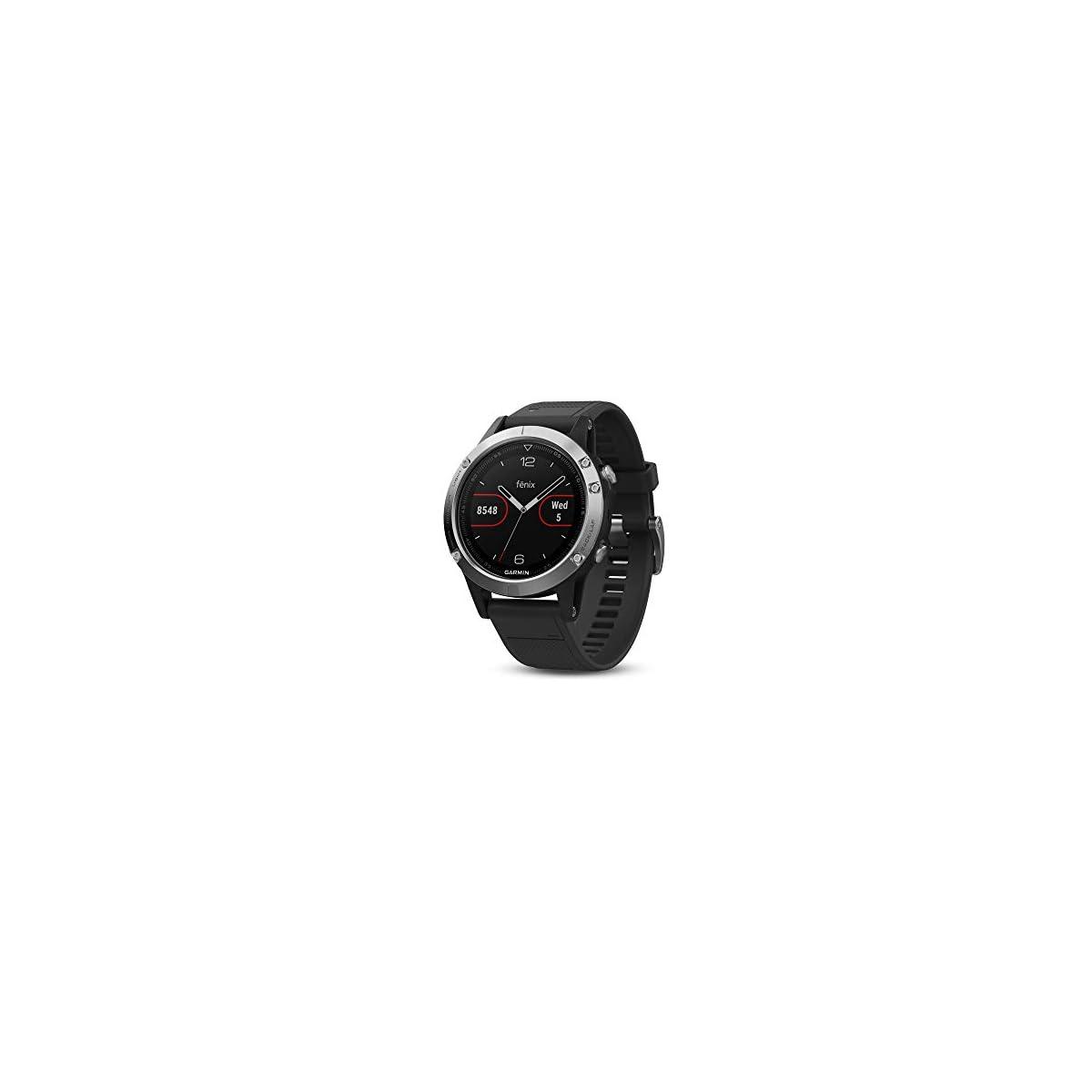 41qUfPBkQAL. SS1200  - Garmin Fenix 5 Silver - Reloj Multisport GPS con Navegación y frecuencia Cardíaca, Color Plata con correa negra