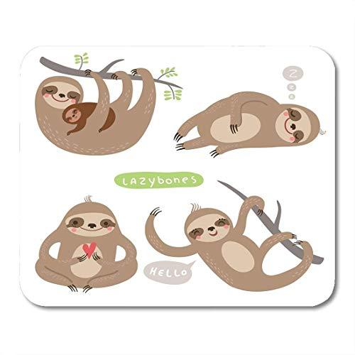 Mauspads Tierfaultiere Lustige und niedliche Faule MutterMausunterlage-MausunterlageMausunterlage (Faul Kostüm Lustig)