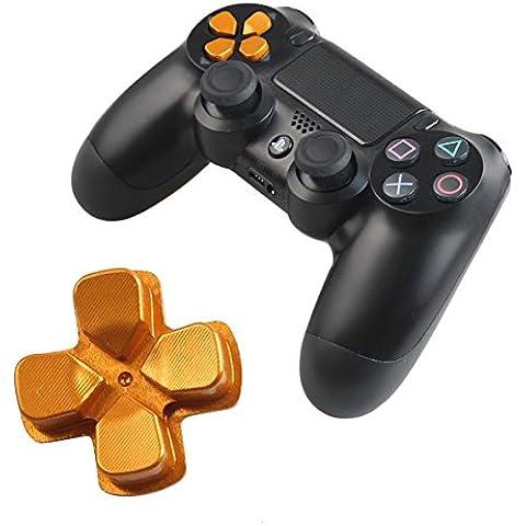Chrome D-pad de Bala Playstation 4 DualShock 4 Botones de Repuesto Botones de Aluminio de Encargo del Metal Sombreros Accesorios Piezas de Repuesto Para Las Mods Controladores PS4