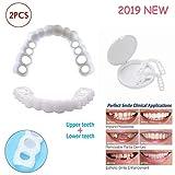 HJHY@ Kosmetik Zähne Veneer Sofortiges Lächeln Dental Provisorischer Natürlich Komfort Zahnersatz Whitening für perfekte Zähne und Lächeln - 2 Teile/Satz (Obere untere Zähne)