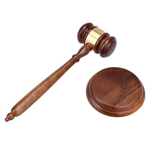 Demiawaking Durable Wooden Craft Anwalt Richter Auktion Hammer Auktion Verkauf Gavel Court Decor
