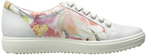 Ecco Damen Soft 7 Ladies Sneakers Weiß (WHITEFLORALPRINT/WHITE/POWDER 59768)