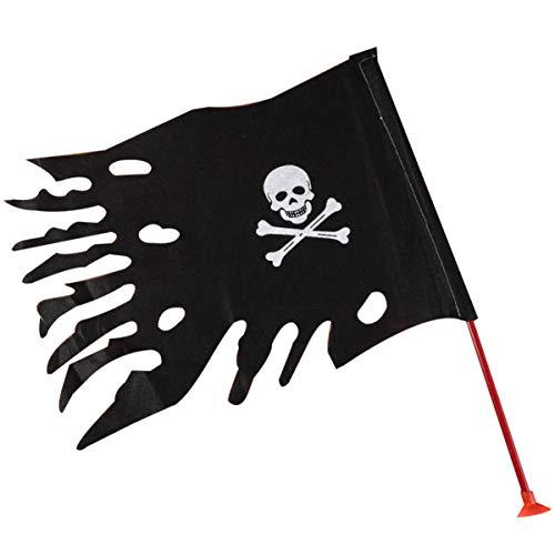 Amosfun 2 Piezas Banderas de Pirata Calavera con Parche y Bandana...