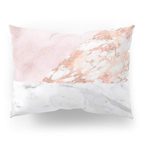 Martinad Mixed Pinks Rose Gold Marble Casual Chic Pillow Sham Standard (20 X 30) Simplicity Mode Bequem Chic Täglich Gebrauch (Color : Colour, Size : Size) -
