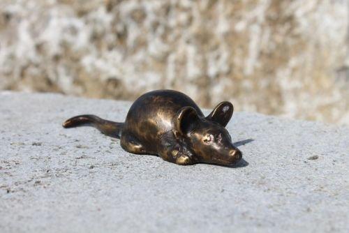 Maus aus Bronze, Dekoration für Tisch oder als Geschenk