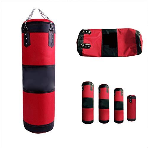 WXH Boxsack gefüllt Wandhalterung Boxen Training MMA hohlen Sandsack, Edelstahl Deckenhaken, hochwertige Oxford Tuch, Fitnessgeräte,L -