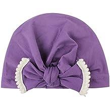Hosaire 1x Invierno Otoño Niño Niña Sombreros Hecho Lindo Diseño de Bowknot  del Bebé Gorra de 8d9ebd8d711