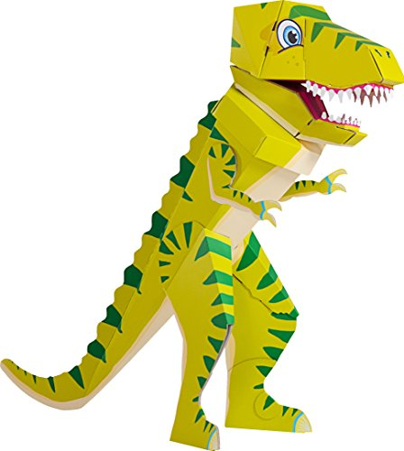 Patentierte Schultüte - Dino Schulrex - 100cm - Dinosaurier T Rex Tyrannosaurus Rex - Stehende Schultüte - Der kleine Knick - grüner Dino - 1 Stück (Wie T-rex Groß Ist)