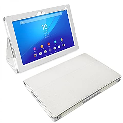 eFabrik Tasche für Sony Xperia Z4 Tablet Schutzhülle 25.6 (10.1 Zoll) Case Hülle Cover Schutztasche Auto/ Sleep Wake Up Bookstyle Zubehör Leder-Optik