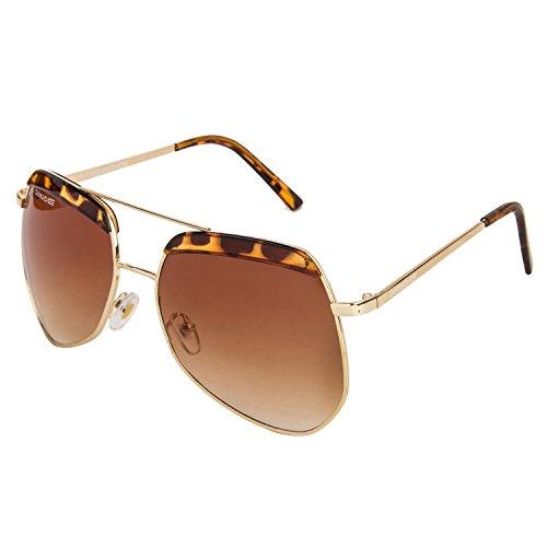 Danny Daze UV Protected Wayfarer Women Sunglasses (D-2112-C3|54MM|Brown)