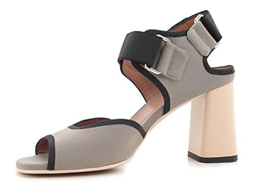 Sandali tacco alto Marni in tessuto grigio - Codice modello: SAMSU07C08 TCR86 00N26 Grigio talpa