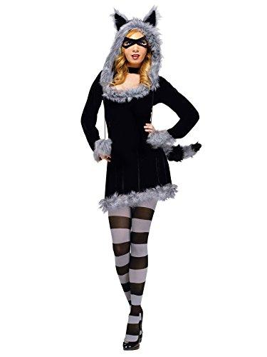 Sexy Waschbär Damenkostüm schwarz-grau S / (Sexy Kostüme Waschbär)
